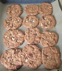 Chocolate Chip Cookies verklebt